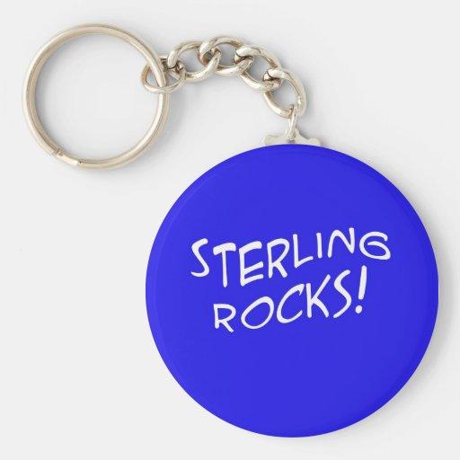 Sterling Rocks! 2 Keychain