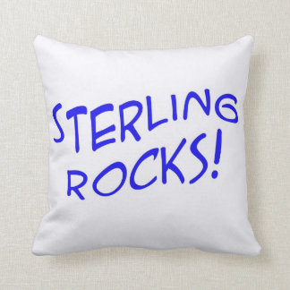 Sterling Rocks! 2 Throw Pillow