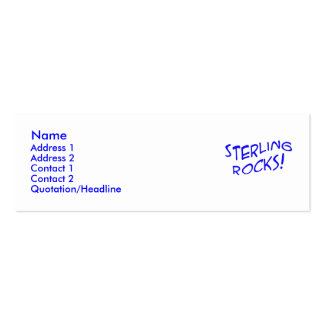 Sterling Rocks! Profile Card Business Card