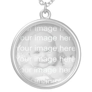 Toddler & Baby themed Sterling Silver Baby Photo Necklace
