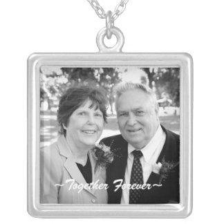 Sterling Silver Customizable Photo Necklace