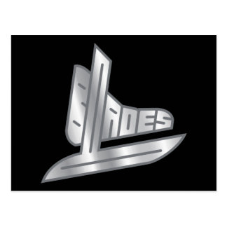 Sterling Silver Hockey Blades Postcard