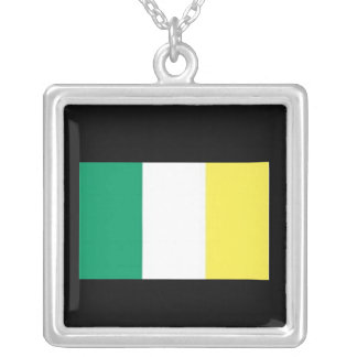 Sterling Silver Ireland Flag Necklace