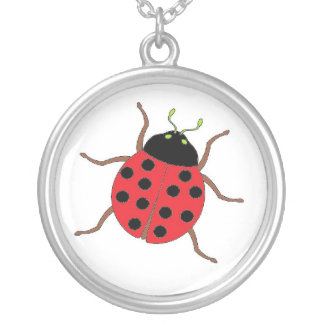 sterling silver ladybug power necklace