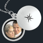 """Sterling Silver Locket Necklace with Picture<br><div class=""""desc"""">Looking for a sterling silver locket necklace with a picture. This great locket design allows you to place your own digital picture inside the locket to create a keepsake for many wonderful occasions and is especially nice for weddings. This design makes a very thoughtful gift from the groom to his...</div>"""
