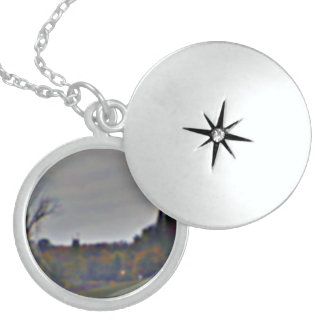 Sterling Silver Locket with Autumn Leaves Design