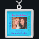 """Sterling Silver necklac Best Friends Forever!, Silver Plated Necklace<br><div class=""""desc"""">Best Friends template.  Sterling silver necklace customizable for you and your best friends name and picture.</div>"""