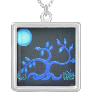 Sterling Silver Necklace-dancing tree