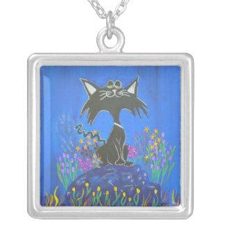 Sterling Silver Necklace -kool kitty