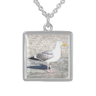 Sterling Silver Necklace Seagull