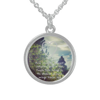 Sterling silver necklace with God's loving promise