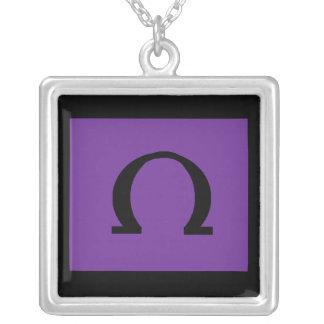 sterling silver omega symbol necklace