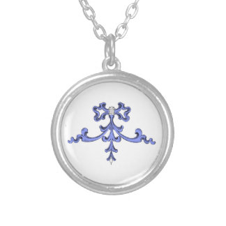 Sterling Silver Plated Necklace - Blue Ribbon