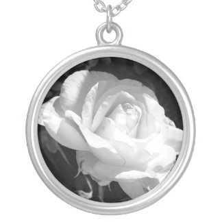 Sterling Silver Plated Necklace Round