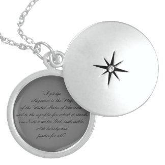 Sterling Silver Pledge of Allegiance Locket