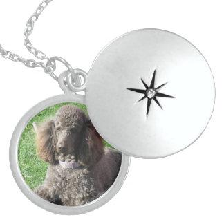 Sterling Silver Poodle Necklace Locket