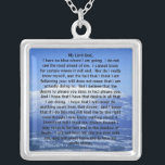 "Sterling Silver Prayer of Thomas Merton Necklace<br><div class=""desc"">Sterling Silver Prayer of Thomas Merton Necklace</div>"