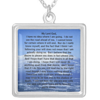 Sterling Silver Prayer of Thomas Merton Necklace