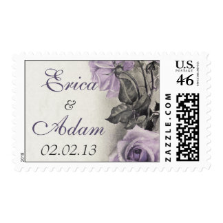 Sterling Silver Purple Rose Wedding Postage