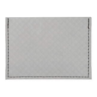 Sterling Silver Quilted Pattern Tyvek® Card Case Wallet