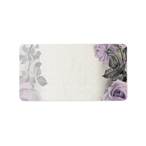 Sterling Silver Rose Blank Wedding Address Labels