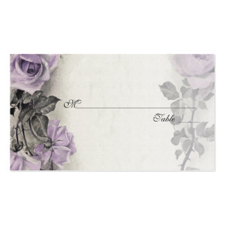 Sterling Silver Rose Wedding Place or Escort Cards Double-Sided Standard Business Cards (Pack Of 100)