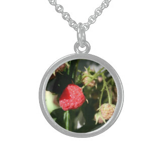 Sterling Silver Round Floral Necklace