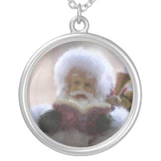 Sterling Silver Santa Necklace