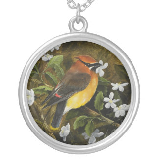 Sterling Silver Square necklace with Bird