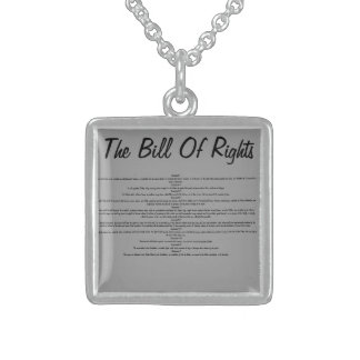 Sterling Silver The Bill of Rights Necklace