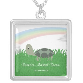 Sterling Silver Turtle: Birth Necklace necklace