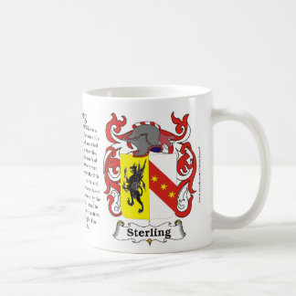 Sterling, the Origin, the Meaning and the Crest on Coffee Mug