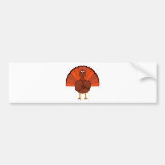 Stern Christmas Turkey. Bumper Sticker