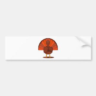 Stern Christmas Turkey Bumper Sticker