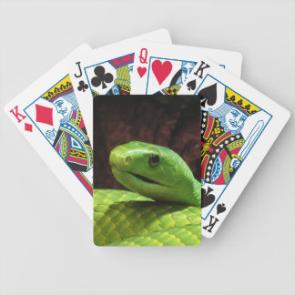stern Green Mamba snake Bicycle Playing Cards