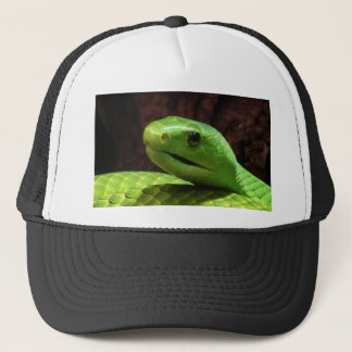 stern Green Mamba snake Trucker Hat
