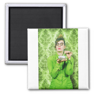 Stern lady 2 inch square magnet