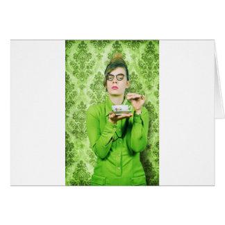 Stern lady card