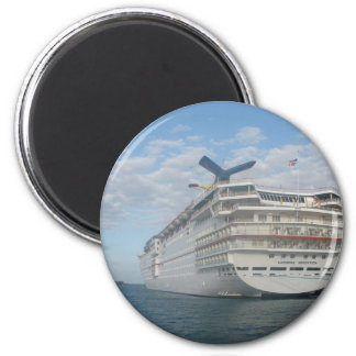 Stern of the Carnival Sensation Cruise Ship 2 Inch Round Magnet