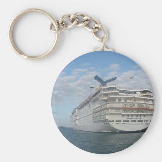 Stern of the Carnival Sensation Cruise Ship Keychain