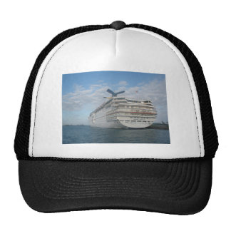 Stern of the Carnival Sensation Cruise Ship Trucker Hat
