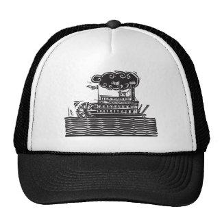Stern wheel Riverboat in waves Trucker Hat