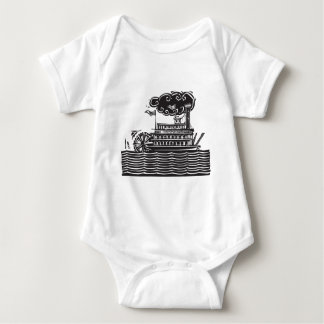 Stern wheel Riverboat in waves Infant Creeper