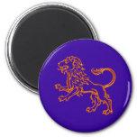 Sternzeichen león zodiac sign Leo Imán Redondo 5 Cm