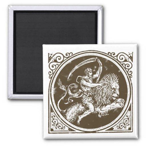 Sternzeichen Löwe zodiac leo lion Kühlschrankmagnet