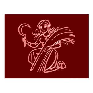Sternzeichen virgen zodiac sign Virgo Postales