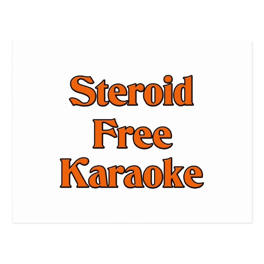 Steroid Free Karaoke Postcard