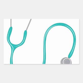 Stethescope Rectangular Sticker