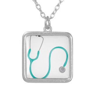 Stethescope Silver Plated Necklace