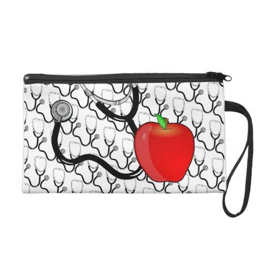 Stethoscope and Apple Wristlet Bag